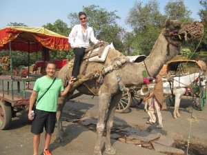 Camel ride at the Taj Mahal