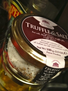 Perfect stocking stuffer from Rick. This truffle and salt is so delicious I can hardly stand it.