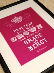 My friend Vaneesha had this amazing quote customized and framed for me from Posh Paperie! Love it so much!