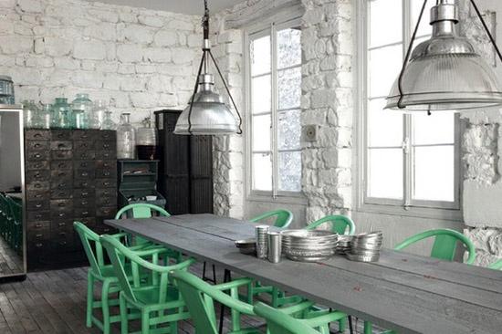Wonderful Ann Written Notes Mint Green Dining Room
