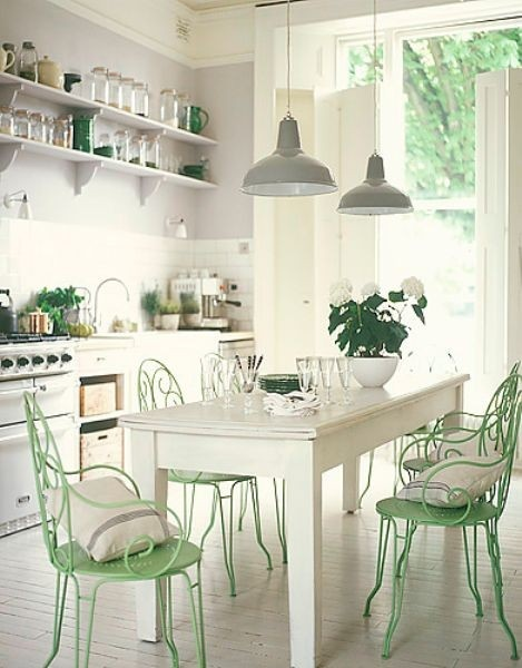 ... Ann Written Notes Mint Green Kitchen