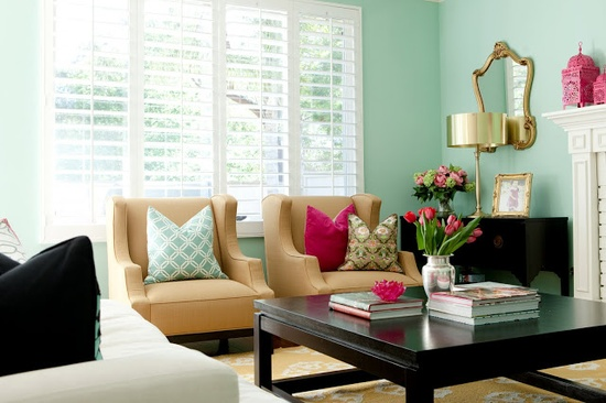 Superbe Ann Written Notes Mint Green Living Room