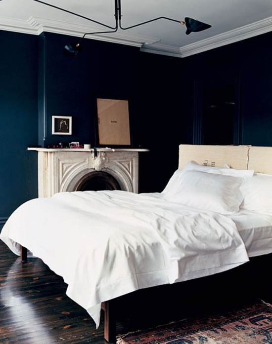Navy Blue Master Bedroom Ann Written Notes