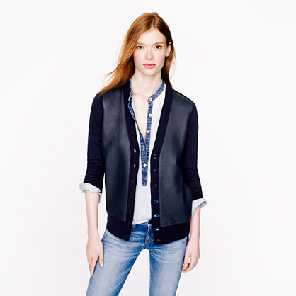 jcrew-leather-front-merino-cardigan